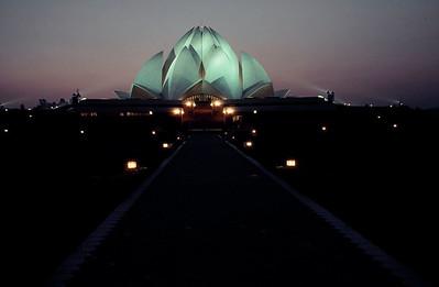 Bahai Temple. New Delhi, India.