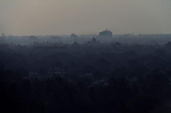 Over view of Delhi. New Delhi, India.