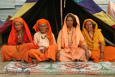 Sadhvis. Ujjain Kumbha Mela. India.