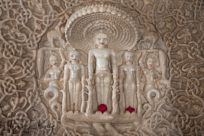 Jain temple at Ranakpur in Jodhpur. Rajasthan, India.