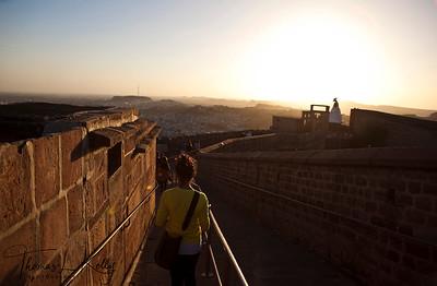 Mehrangarh Fort in Jodhpur. Rajasthan, India.
