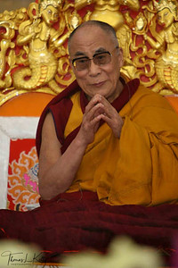 The Dalai Lama giving Kalachakra teachings.