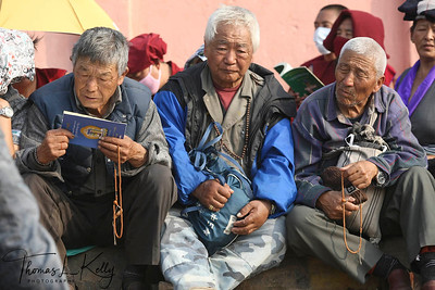 Tibetan pilgrims at Kalachakra Initiation in Bodhgaya, India. (Jan-2012)