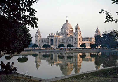 The Victoria Memorial, located in Kolkata, India is a memorial of Queen Victoria of the United Kingdom who also carried the title of Empress of India. It currently serves as a museum and a tourist attraction. Kolkata, India.