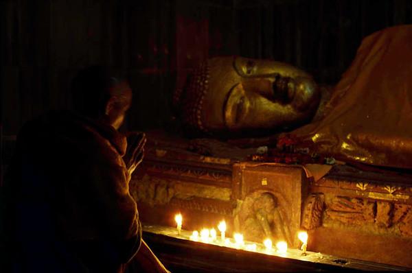 Kushinigar. Death, India.