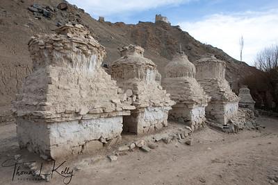 Leh Palace Chortens