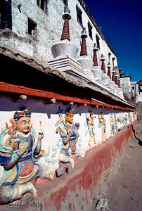 Buddhist chorten. Lingshed Monastery. The dominant religion of Ladakh is Buddhism, especially in the central and eastern areas. The Chortens on the way makes Ladhak a holy place with eternity of peace. Ladhak, India.