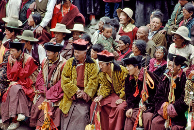 Cham dance spectators. Matho Monastery. Ladakh, India.