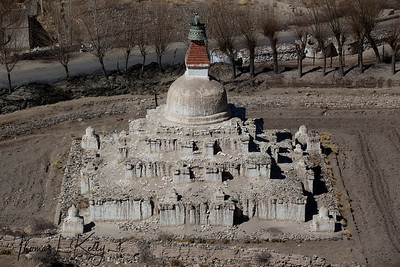 Chortens below Shey Palace.