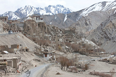 Newly constructed road in Lama Yuru. Ladakh, india.