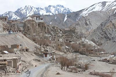 Newly constructed road in Lama Yuru. Ladakh, india.
