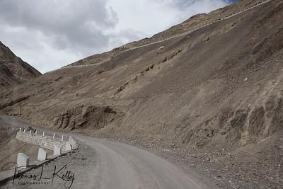 Road construction on the way to Lama Yuru. Ladakh, India.