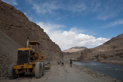 Road construction in Ladakh, India.