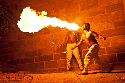 Fire performer at The Mehrangarh Fort.