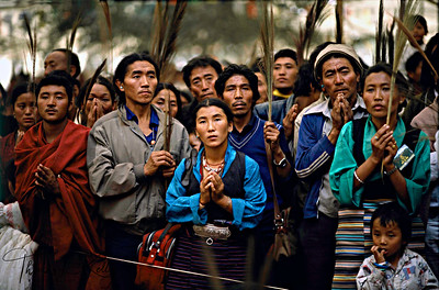 Pilgrims receiving the Kalachakra Initiation in Sarnath, India.