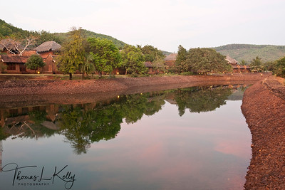 Water storage for recycling in Swaswara, CGH Earth. Gokarna, Karnataka, India.