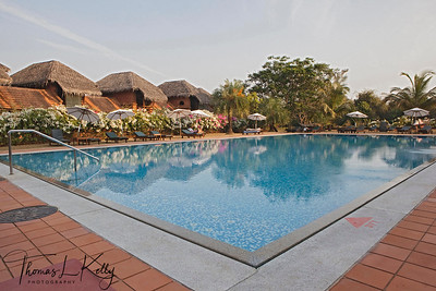 Swimming pool in Swaswara in Gokarna, Karnataka, India.