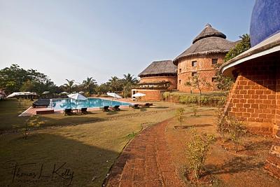 Swimming pool in Swaswara in Gokarna, Karnataka, India.