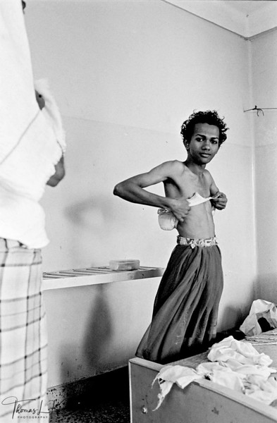 Sahodaran worker gets ready to go out for work at the annual Aravan festival which attracts transsexuals from all over the country.