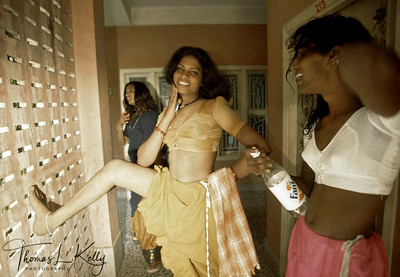 """Transsexuals  or eunuchs (known as hijras  or alis) in South India dress up for the annual temple  festival  in which the hijras get """"married"""" to  a god  and then windowed the next day when the god is symbolically  killed."""