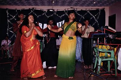 Contestants in the audience watching Prakriti Sahodaran-sponsored, drag beauty pageant, Aravan Temple Festival, Villupurum , South India.