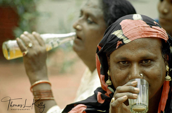 The menopause that refreshes. Hijras relax drinking a cuppa chai (sweetened milk tea).