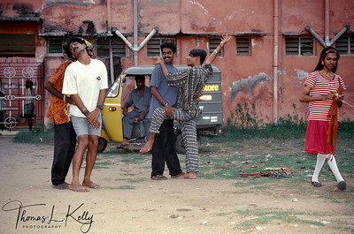 Gay men's health workers from Madras striking an artistic pose.