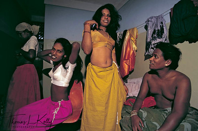 "Transsexuals  or eunuchs (known as hijras  or alis) in South India dress up for the annual temple  festival  in which the hijras get ""married"" to  a god  and then windowed the next day when the god is symbolically  killed."