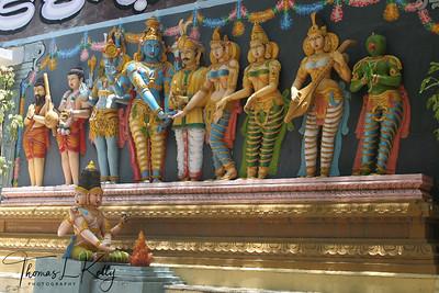 Stone idols depicting marriage ceremony of Lord Vishnu & Goddess Laxmi accompanied by other Gods and Goddess.