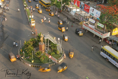 Street scenic of Tirumala.