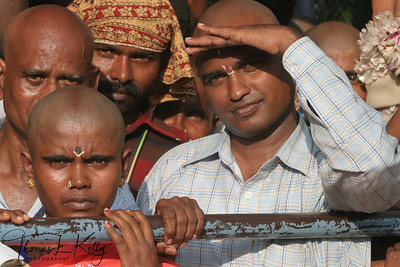 Devotees foster patience as they wait in the long non-VIP line for Lord Balaji's darshan—benevolent look of blessing.