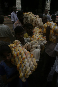 It is considered a blessing to carry or even touch the thick braided cotton wicks that will be lit on Krittika Deepam.