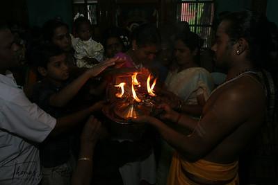 Aarati at Tiruvannamalai temple