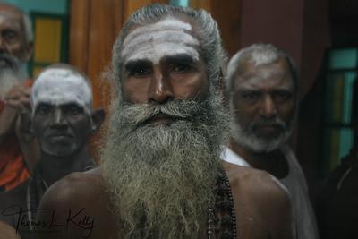 Sadhu at the  Karttika Deepam festival.