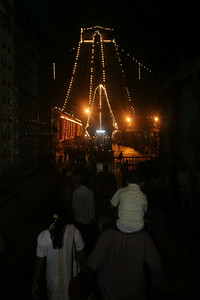 On Krittika deepam day, a flame lit in Tiruvannamalai temple signals thelighting of another fire atop mountain Arunachala.