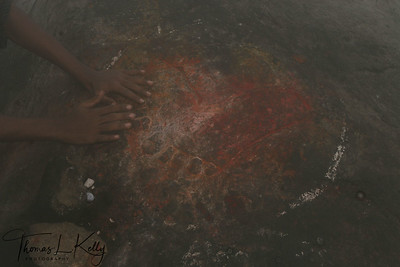 Foot prints of Lord Shiva.