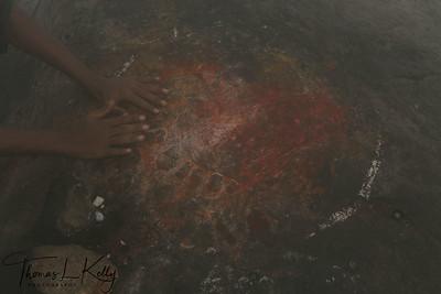 Foot prints of Lord Shiva.