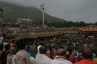 The colourful festivities prior to the flame lighting in the temple draws record crowds.