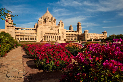 The Umaid Bhawan Palace in Jodhpur. Rajasthan, India.