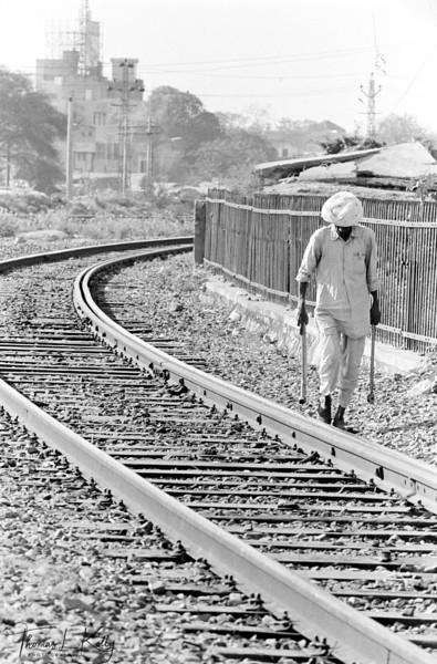 Railroad.   Varanasi, India.