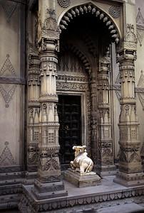 Hindu temple Ghat of Varanasi, India.