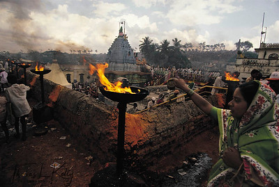 The annual festival to goddess Yellama at the Devadasi temple in Karnataka, India.
