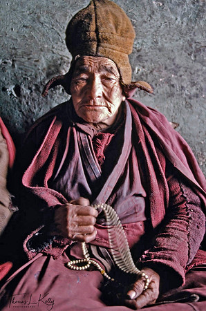 "The Lonpo, a humble and erudite doctor-turned-monk, is Zanskar's greatest scholar. Highly educated in Budhist philosophy, he doesn't believe in witches, but shared his thoughts on the matter. ""from a Budhist medical perspective, we do believe there are malevolent spirits which can cause illness and madness but witches are only given strength by those who believe in them. If your faith is strong, witches will not harm you"". Zanskar, India"