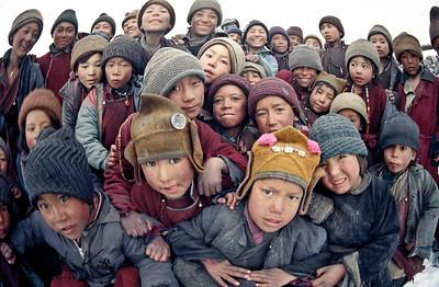 Gelugkpa monk boys, Karsha monastery. Zanskar, India.