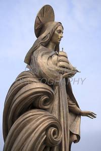 The Mary, Star of the Sea statue at Gate of Heaven Cemetery in Dagsboro, Thursday, April 30, 2009. The Dialog/Don Blake
