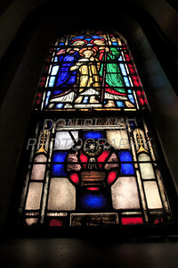 Stained glass window of the Holy Family at St. Joseph Church on French Street. The Dialog/Don Blake