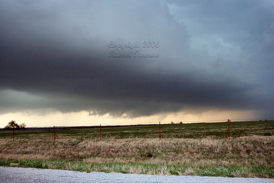 Wall Cloud South Of South Mound, Kansas