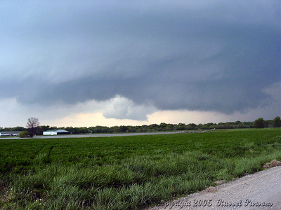 Looking Northwest From Kansas 101 Hwy. And NE 40th Street 1 Mile East Of Weir, Kansas At a Wall Cloud