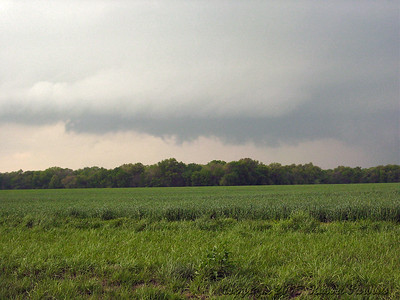 Looking North From 1/2 Mile East Of NE Scammon Road And U.S. 69 Hwy. At a Wall Cloud