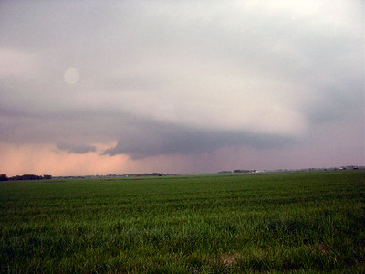 Looking North From 1/2 Mile East Of NE Scammon Road And NE 110th St. At a Wall Cloud